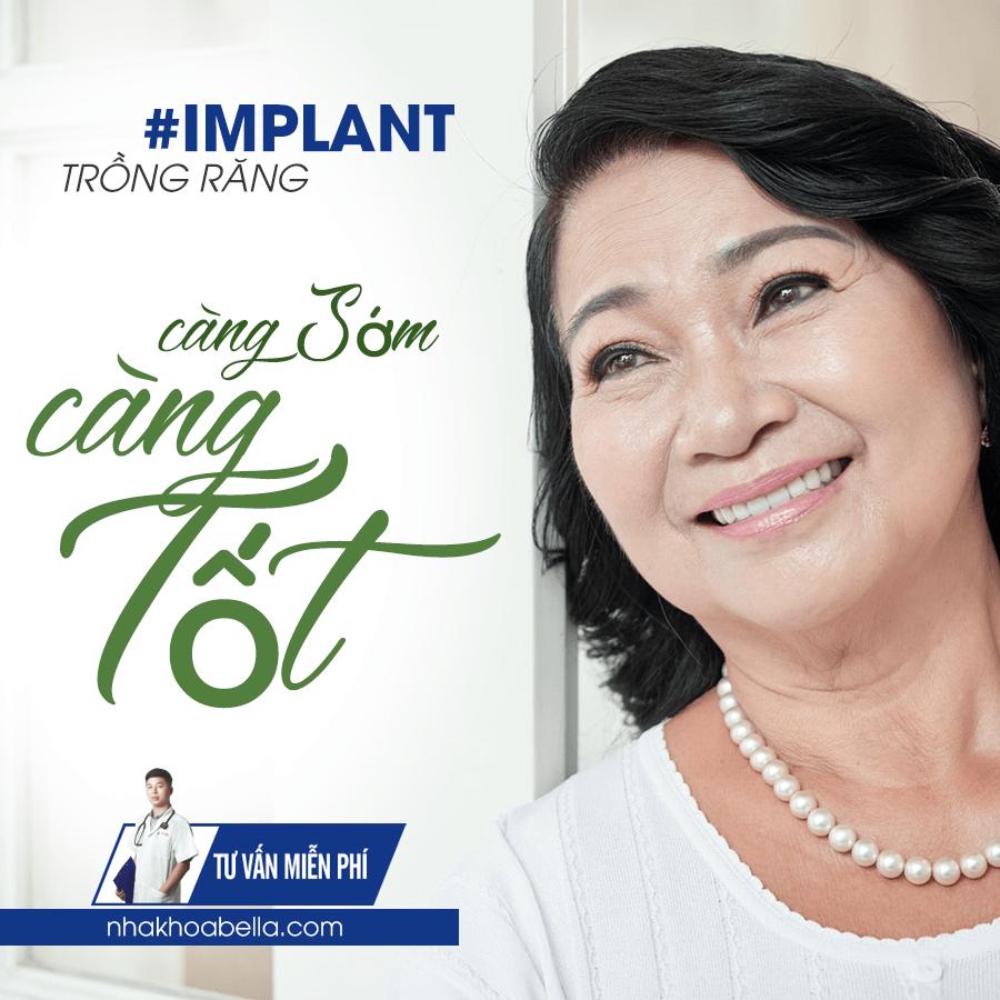 trồng răng implant có bị hôi miệng hay không